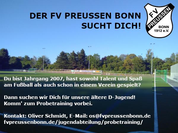 Der FV Preussen sucht Dich!